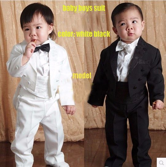 Children tuxedo kids formal suit Baby Boys http://mobwizard.com/product/free-shipping-1746327687/