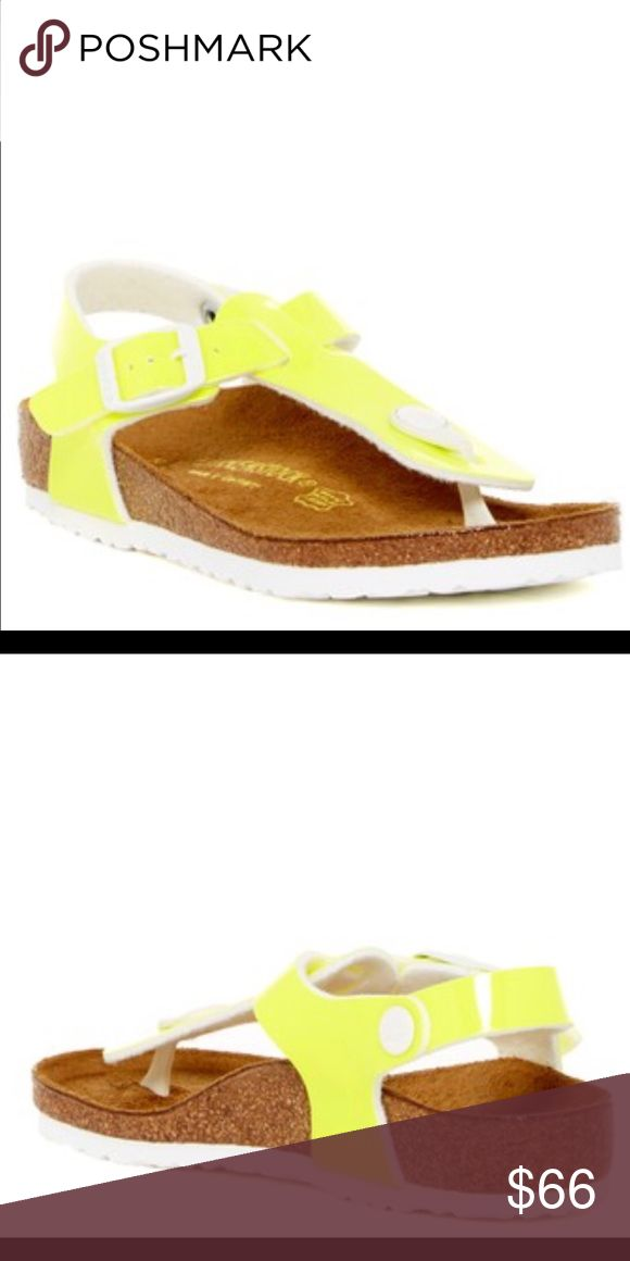 Birkenstock This bright neon sandal features a soft fabric lining and signature comfort contoured footbed. Birkenstock for kids, brand new without box Birkenstock Other