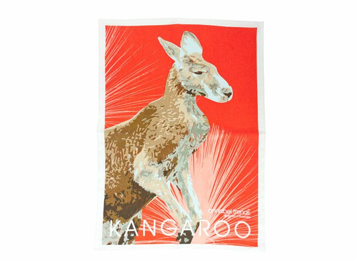 Kangaroo Linen Tea Towel Super Absorbent Annabel Trends Quality Australia New