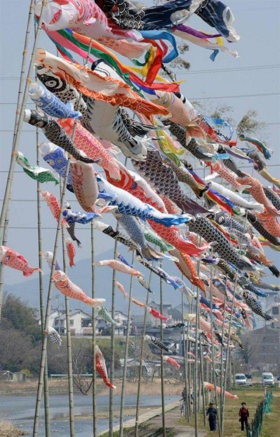 Koinobori 鯉幟 Japan Children's Day May 5th.