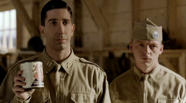 Simon Pegg in Band of Brothers I squealed like the little ...  Simon Pegg in B...