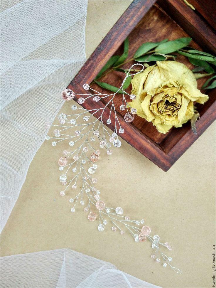Купить Свадебное украшение для волос - украшения для волос, украшение для волос, украшение в прическу, украшение на свадьбу
