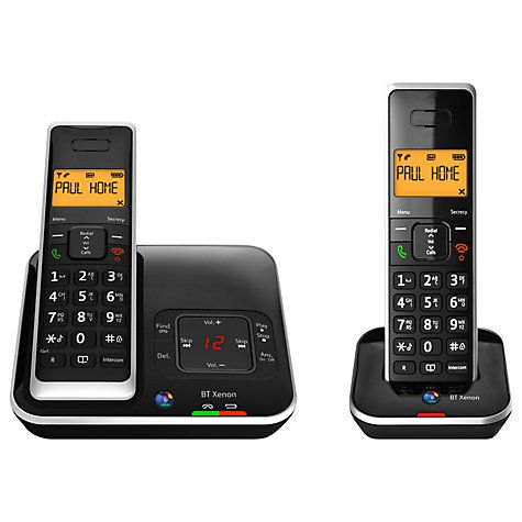 Buy BT Xenon 1500 Cordless Telephone with Answering Machine, Twin DECT Online at johnlewis.com