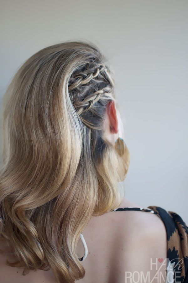 Faux Undercut – Cornrow Comb-Over Braid – Side Part Braided Long Hair   Hairstyles Weekly