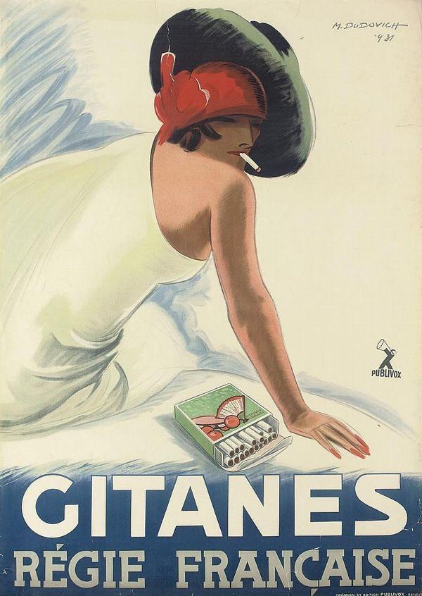 By Marcello Dudovich (1878-1962), ca 1930, Gitanes Régie Française. (I)
