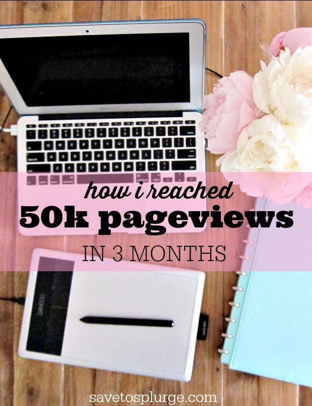 My blog reached 50k pageviews in 3 months. See how I increased my blog's pageviews by 500%!