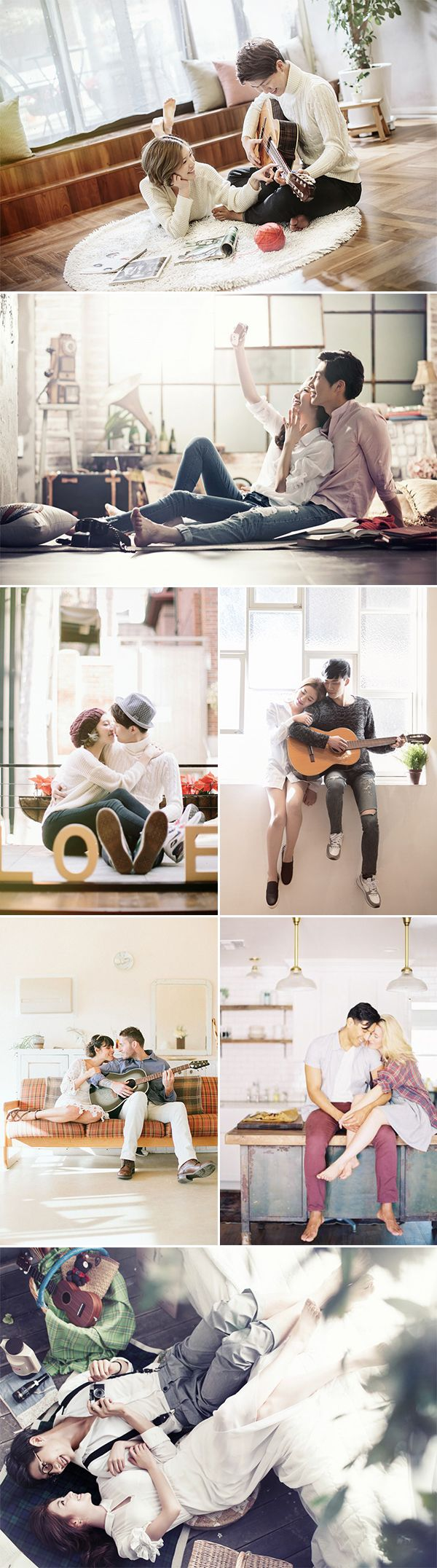 A Sweet Date! 25 Cute and Romantic Engagement Photo Ideas - at home!