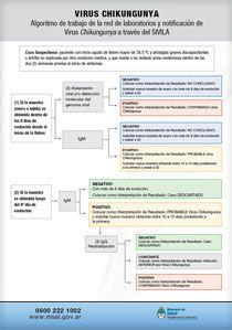 Algoritmo de trabajo de la red de laboratorios y notificación de Virus Chikungunya a través de SIVILA.