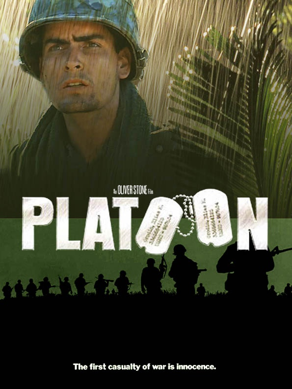 the movie platoon Because the movie was shot sequentially, as the platoon in the film took casualties, the cast size began to shrink by the end of shooting,.