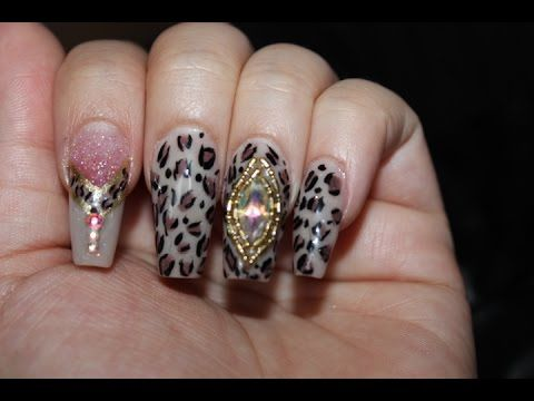 Uñas Estilo Sinaloa - Winter Bling Nails - YouTube                                                                                                                                                                                 Más