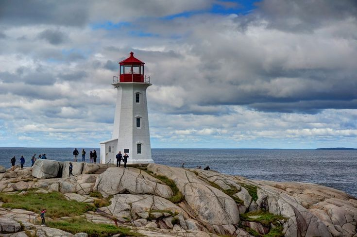 The iconic Peggy's Point Lighthouse in Nova Scotia