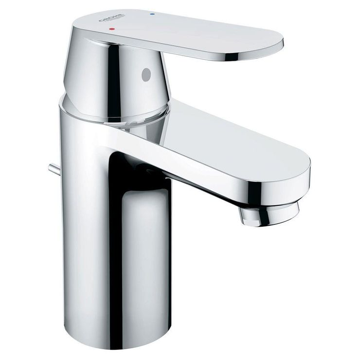 grohe eurosmart single hole bathroom faucet in starlight chrome