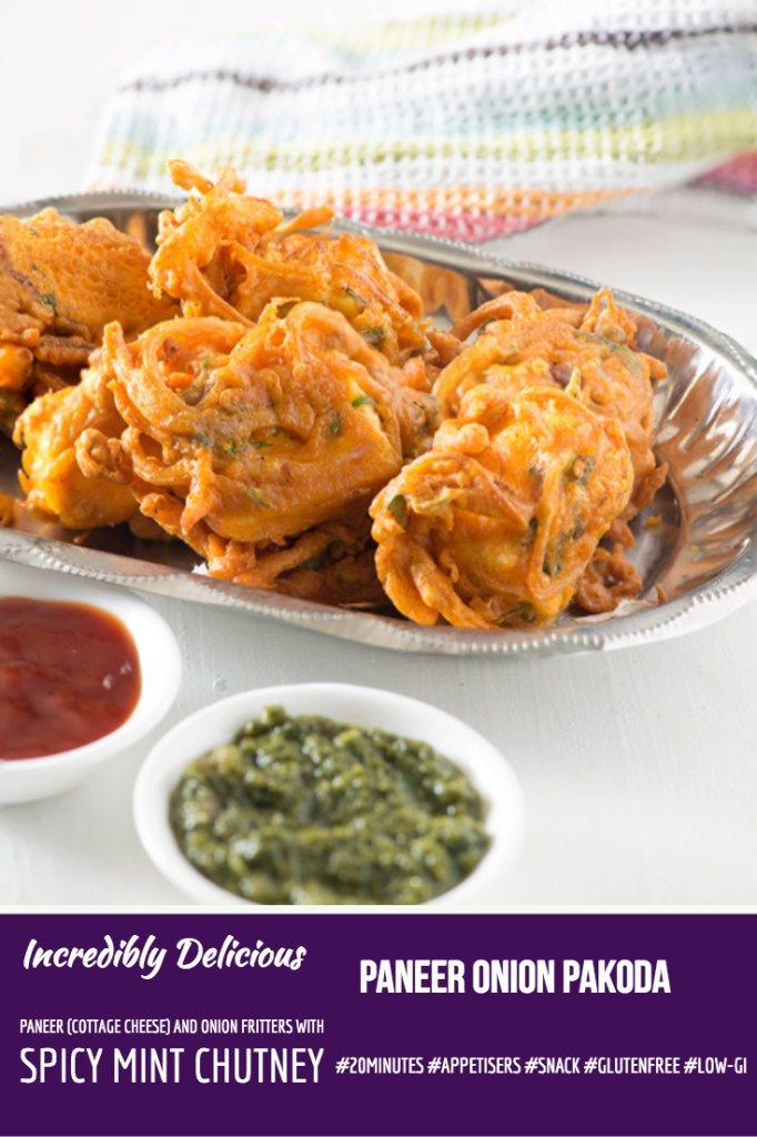 paneer onion pakoda indian cottage cheese and onion fritters rh pinterest com