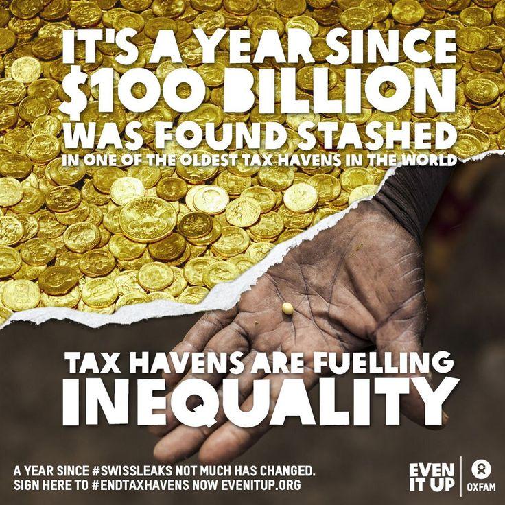 Oxfam International on Tax haven, Oxfam, Poverty