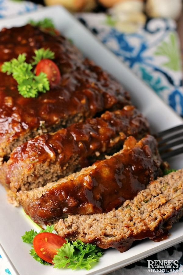 Best Bbq Meatloaf Renee S Kitchen Adventures Easy Recipe For Bbq Meatloaf Made With Ground Beef Great Choice Bbq Meatloaf Recipe Bbq Meatloaf Bbq Recipes