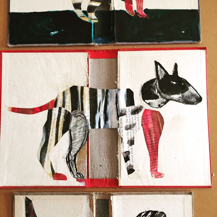 Bodger the altered book bully. Collage art