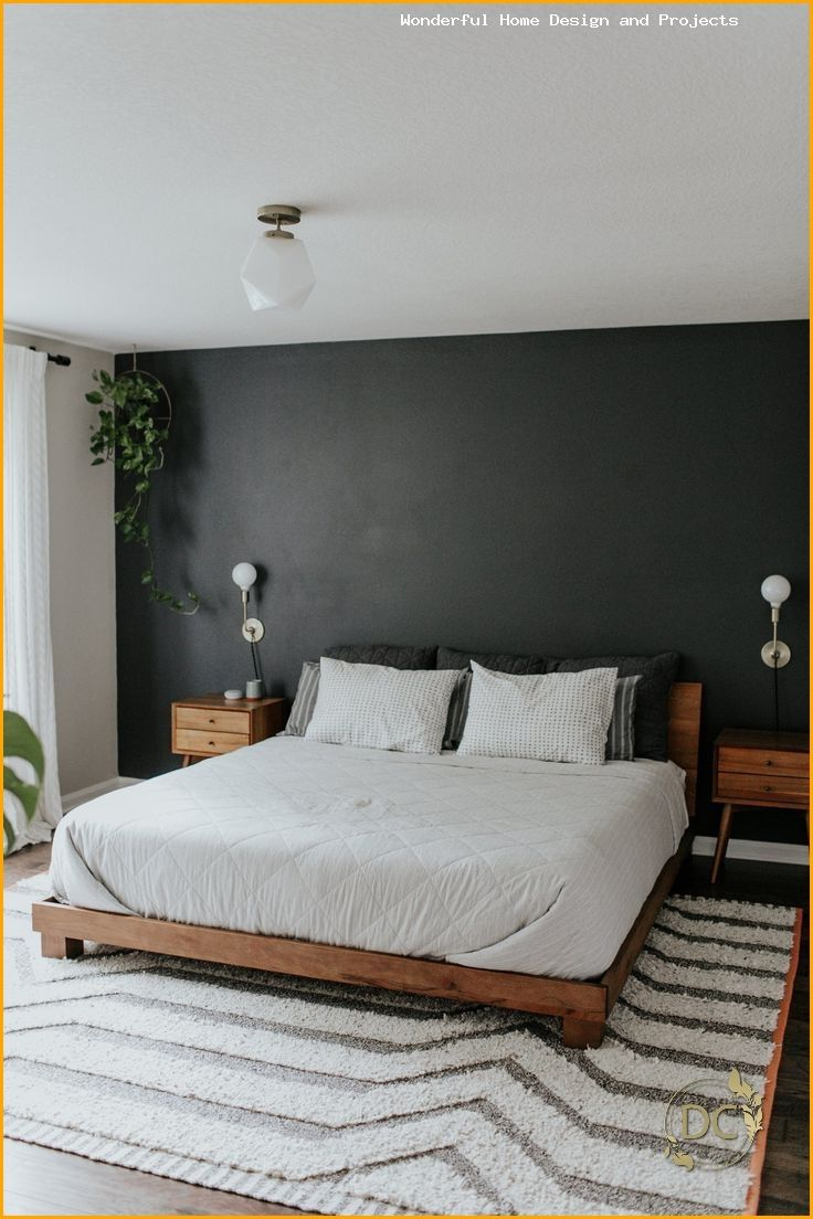 Wood Gray White Linen Dark Green Plants Bedroom Dark Green Grey In 2020 Living Room Design Modern Minimalist Bedroom Design Living Room Designs