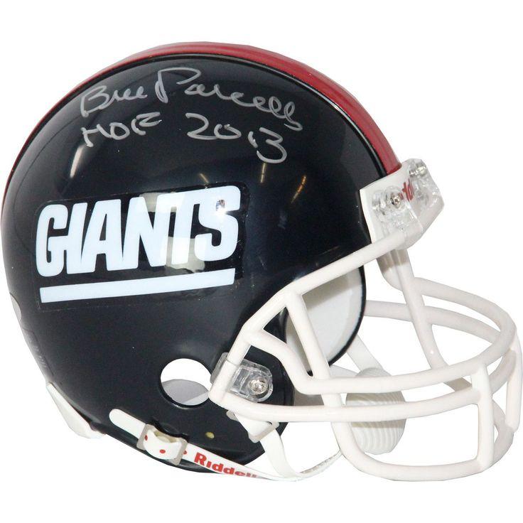 Bill Parcells Signed Giants Mini Helmet w/ HOF Insc