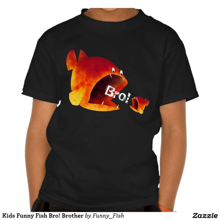 Kids Funny Fish Bro! Brother T Shirt