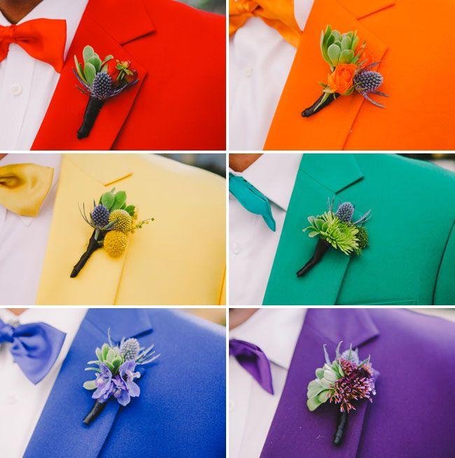 17 Best images about Rainbow Wedding Ideas on Pinterest