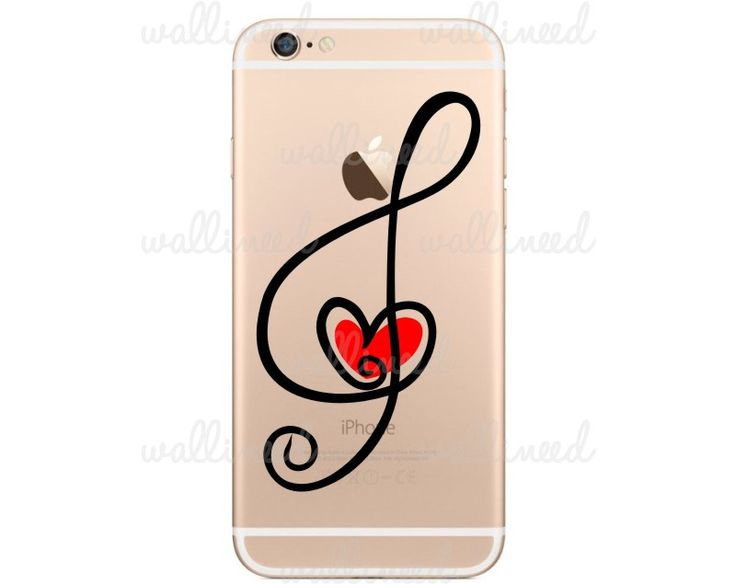 Treble Clef Heart IPhone 6 Stickers