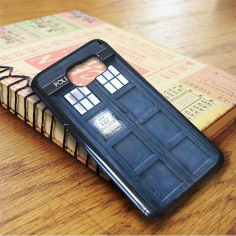 Blue Tardis Box Police Samsung Galaxy S6 Case