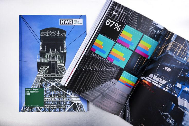 NWR annual report 2012 - Graphic design by Dynamo design, photo of printed realization by w:u studio