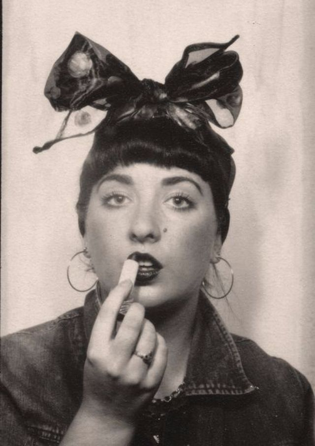 With selfies, photo booths are probably where they can express theirexcitement comfortably. These vintage photo booth snapshots of lovely w...