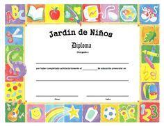 Diploma de Jardín de Niños - Para Imprimir Gratis ...
