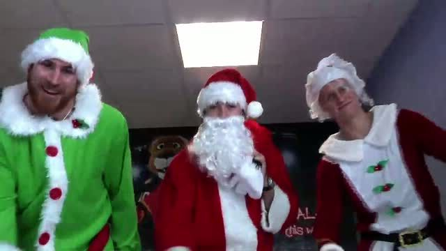 Santa, Mrs. Claus and their elf spread some holiday cheer when they visited Chris Evert Children's Hospital on Dec. 15th.