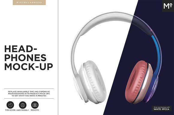 Headphones Mock-up by Mocca2Go/mesmeriseme on @creativemarket