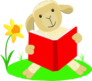 Here is the logo for Little Lamb Tales drawn by illustrator Claire Chrystall.