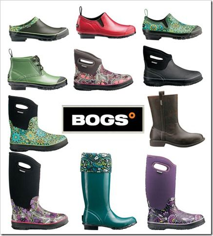 I love these boots. Think I will plant a garden just so I can buy some. OR I will find a wet, messy job to do around the yard....BOGS boots.