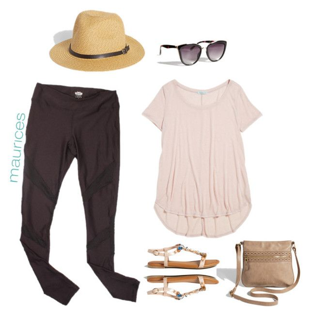 """airplane outfit"" by maurices ❤ liked on Polyvore featuring maurices"