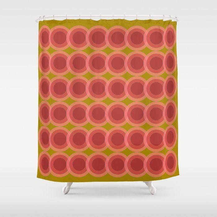 Zappwaits Retro Shower Curtain Retro 70er 70s Duschvorhang