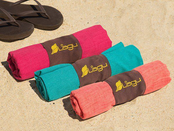 Lagu's sand repellent blankets, discovered by The Grommet, keep you comfortable and sand-free at any beach day.