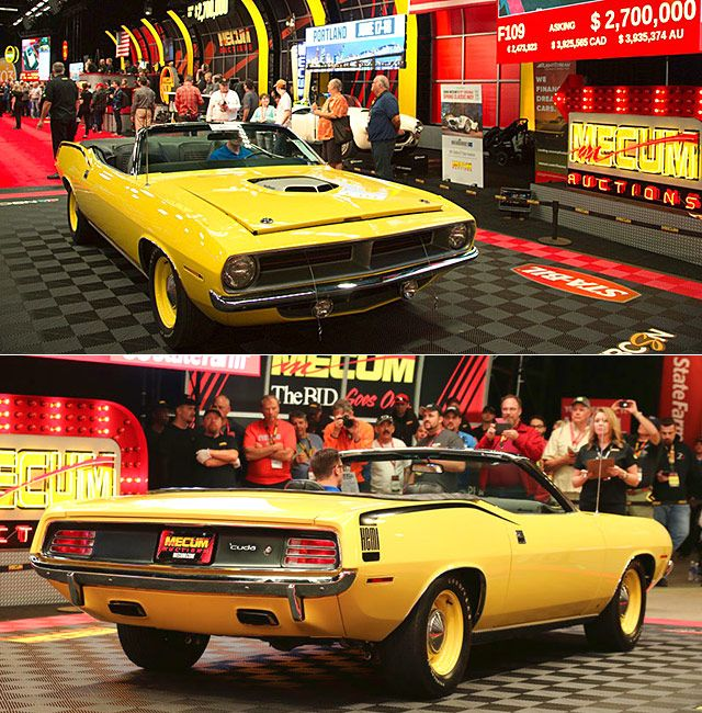 1970 hemi cuda convertible achieved an astounding 2 675 000 selling rh pinterest com