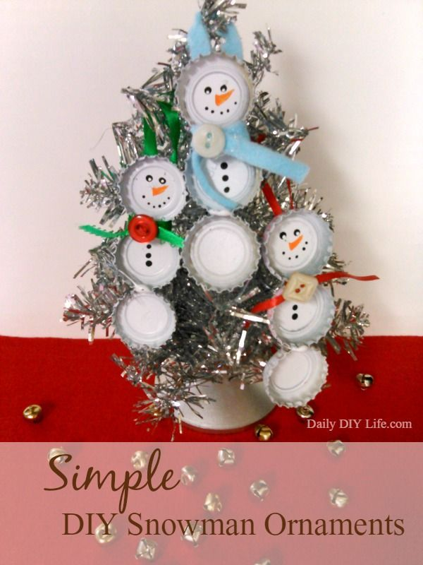 Simple and Adorable DIY Snowman Ornaments 203