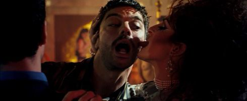 Uday Hussein makes out with a drag queen in The Devil's Double
