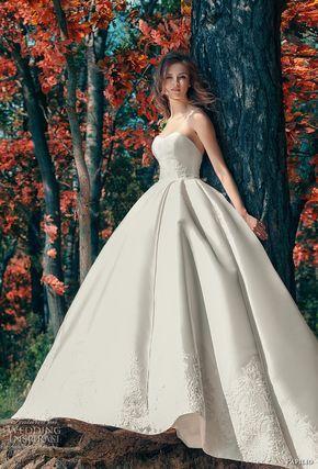 papilio 2017 bridal strapless sweetheart neckline light embellished bodice princess ball gown wedding dress royal train (drongo) mv -- Papilio 2017 Wedding Dresses