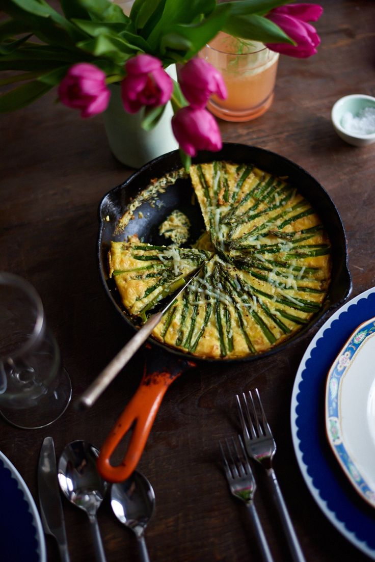 recipe by brita olsen • photographed by rob gullixson This asparagus gruyere fritatta was created as part of a fresh and modern Easter Sunday brunch. See the fully story here!