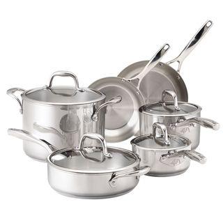 Guy Fieri Stainless Steel 10-piece Cookware Set- $115 overstock.com, list $250.
