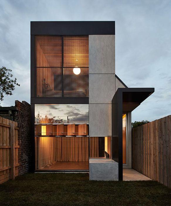 Open Floor Plan, Modern Space. Modern TownhouseTownhouse InteriorTownhouse  DesignsDark ...