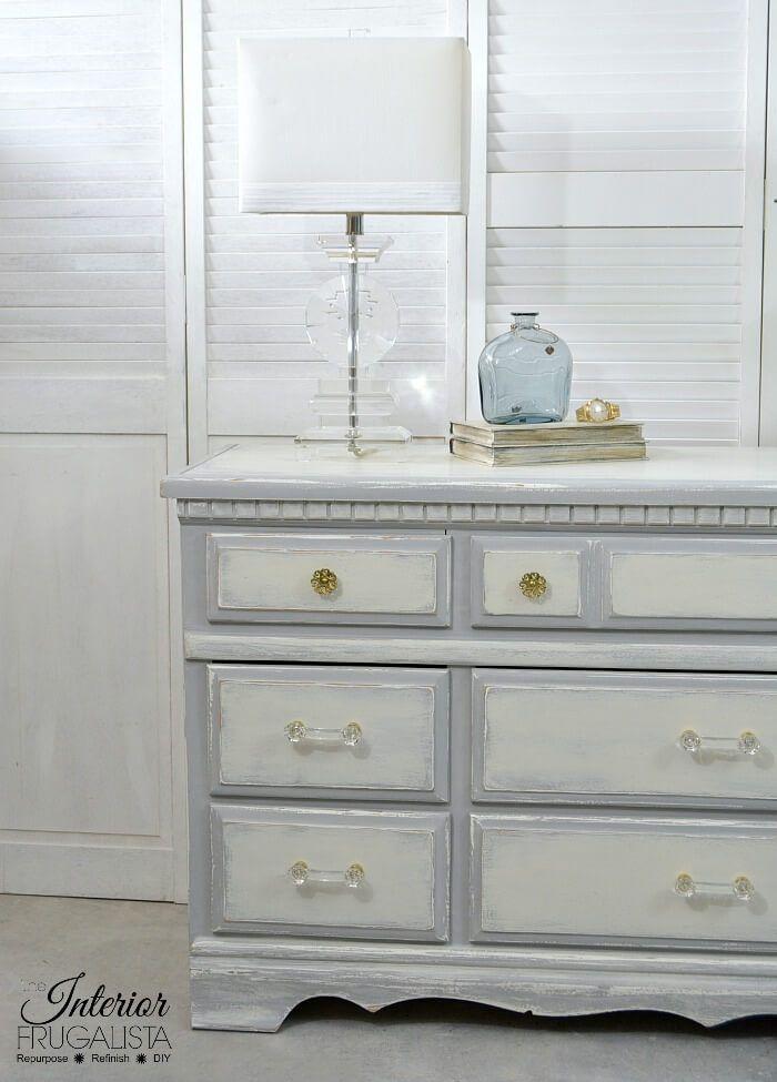 vintage 9 drawer dresser from glossy to farmhouse charm darren 9 rh pinterest com