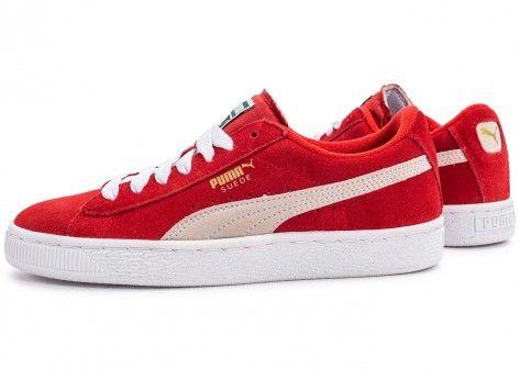 Chaussures Puma Suede Junior rouge vue extérieure