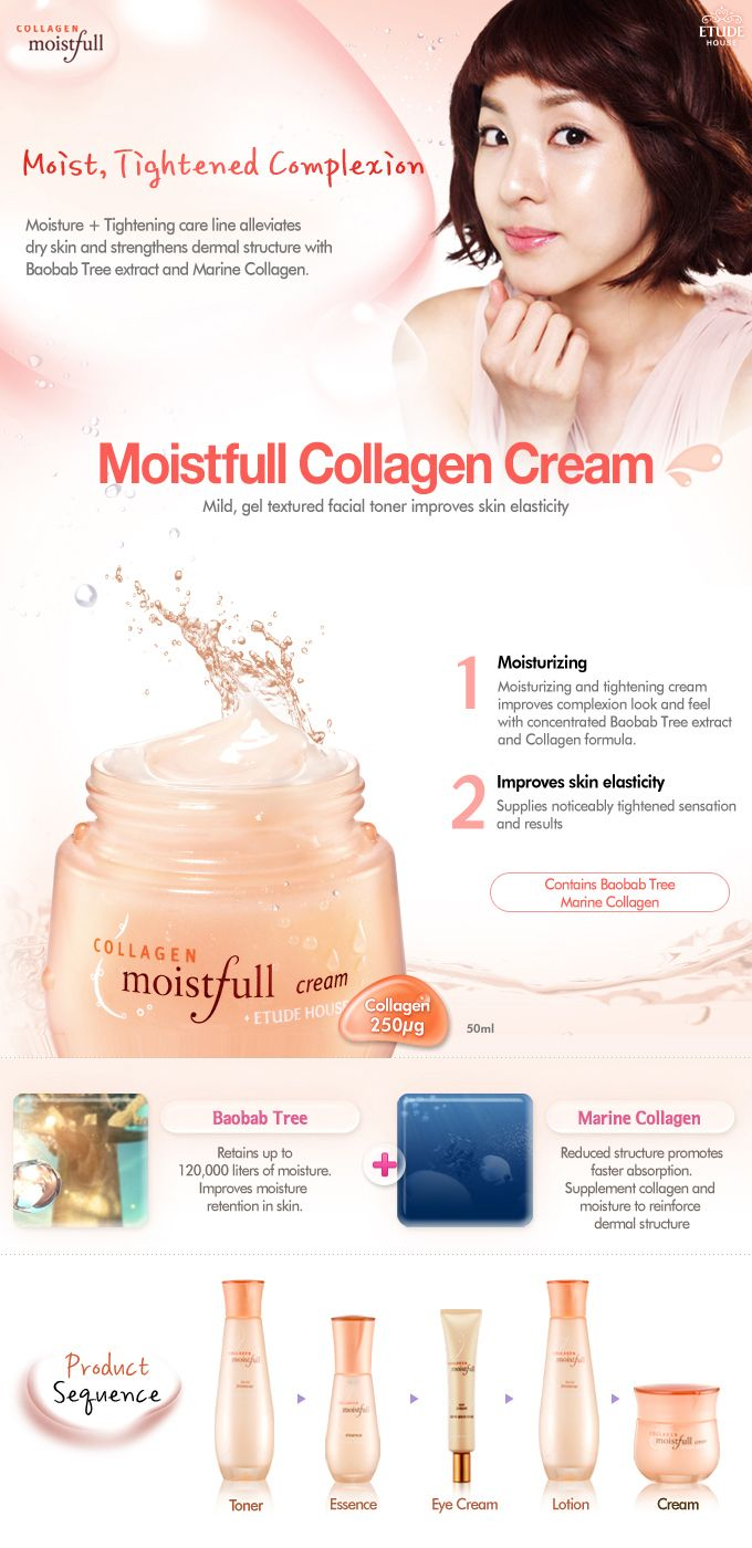 Etude House Moistfull collagen. Love this line!