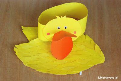 Przebranie kaczki (nr 2) - papierowa opaska na głowę i skrzydła (całość w wersji DIY)