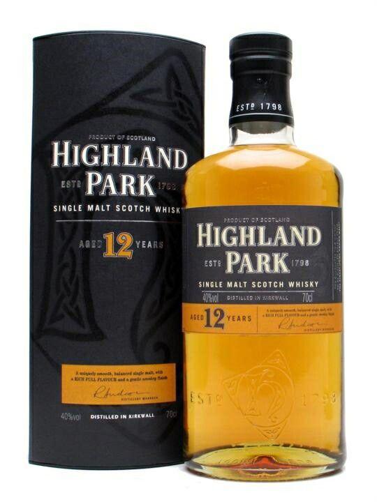 Highland Park, Single Malt, 12 years, Scotland.