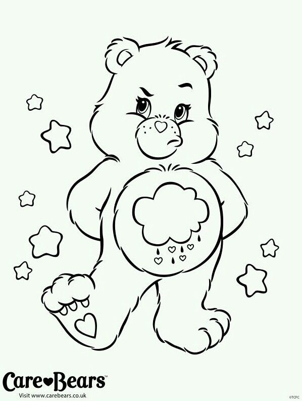 grumpy care bears coloring pages - photo#13