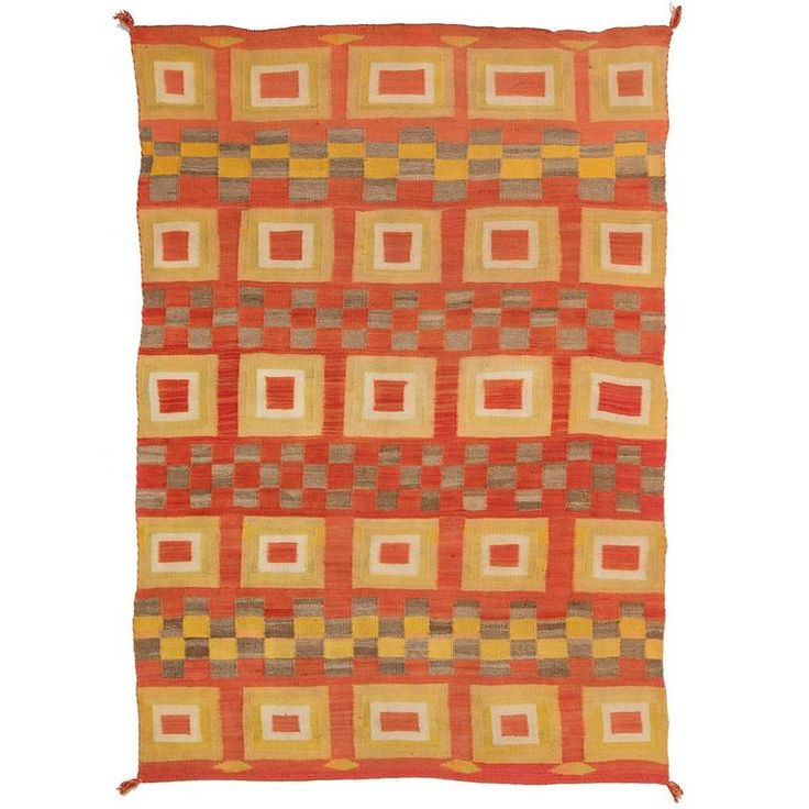 Antique Native American Transitional Blanket, Navajo, circa 1900   From a unique collection of antique and modern native american objects at https://www.1stdibs.com/furniture/folk-art/native-american-objects/